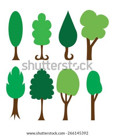 Abstract trees vector - stock vector