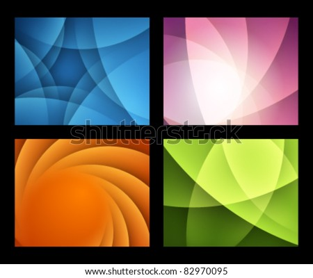 Abstract trendy vector backgrounds set eps 10 - stock vector