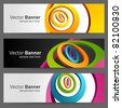 Abstract trendy vector banner or header set eps 10 - stock vector