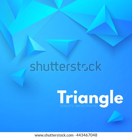 Abstract Triangle Background 3D Triangles Modern Wallpaper Vector Illustration