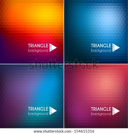 Abstract triangle backgrounds set II - eps10 - stock vector