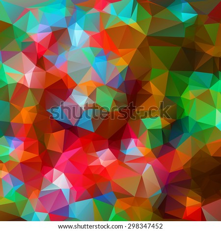 Abstract triangle colorful texture background - stock vector