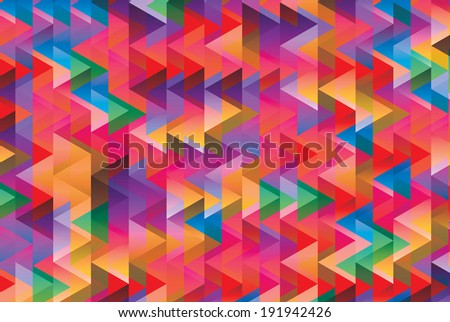 abstract triangle geometric patterns contains gradients and transparent multiply - stock vector