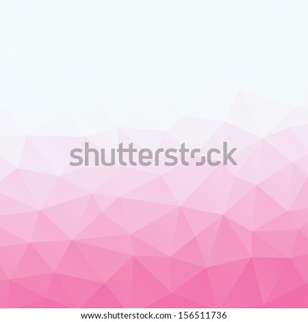 Abstract triangle geometric shapes background. Backdrop,wallpaper, banner, site design template. Vector illustration in pink and white color. - stock vector