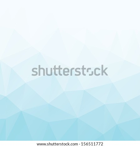 Abstract triangle geometric shapes background. Backdrop,wallpaper, banner, site design template. Vector illustration in blue and white color. - stock vector