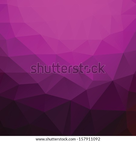 Abstract triangle geometric shapes background. Backdrop,wallpaper, banner, site design template. Vector illustration in purple,black color. - stock vector