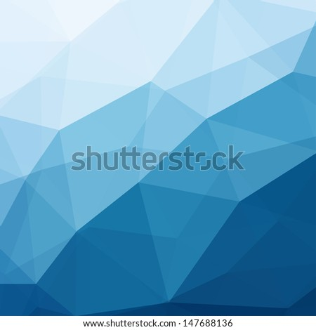 Abstract Triangle Geometrical Background, Vector Illustration EPS10 - stock vector