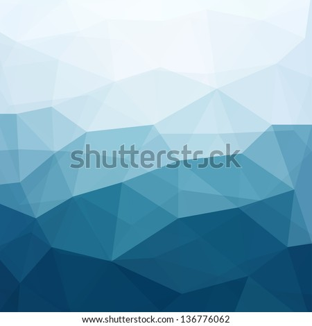 Abstract Triangle Geometrical Multicolored Background, Vector Illustration EPS10 - stock vector