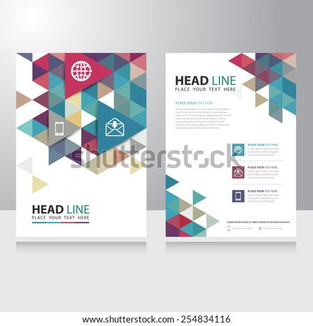 Abstract Triangle internet communication Brochure Flyer design vector template - stock vector