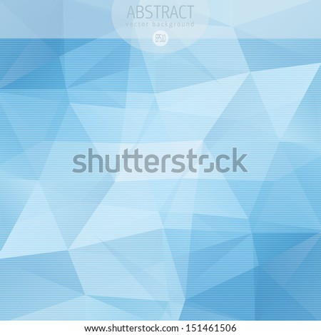 Abstract triangle pattern - stock vector