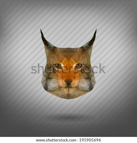 abstract triangle polygonal lynx - stock vector