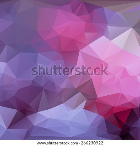 Abstract triangle (polygonal) purple background in vector, eps - stock vector
