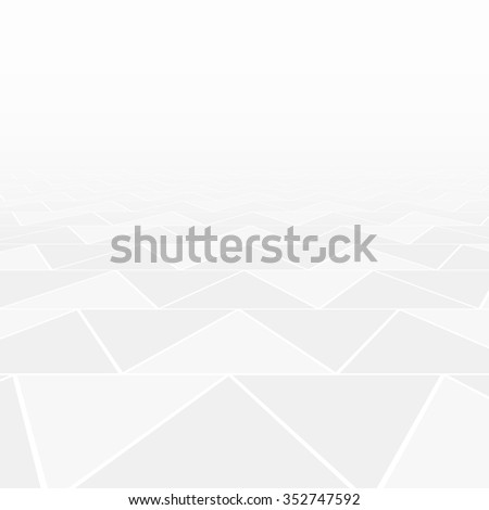 Abstract triangle tiled floor with a perspective room - stock vector