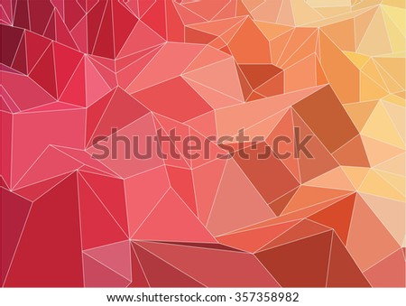 Abstract triangle two-dimensional  colorful background for web design - stock vector