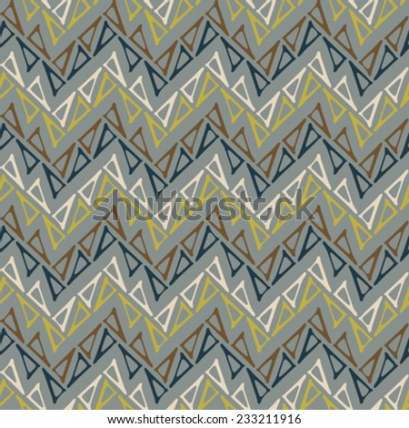 Abstract triangle  zigzag textured background. Seamless pattern. Vector.  - stock vector