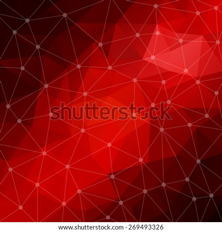 Abstract triangular red and black background. Vector design EPS10 - stock vector