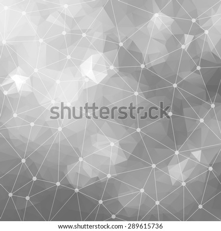 Abstract triangular silver background. Vector design EPS10 - stock vector