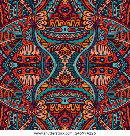 Abstract Tribal vintage ethnic seamless pattern ornamental  - stock vector