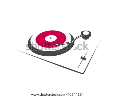 abstract turntable - stock vector