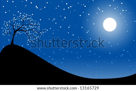 abstract twilight - stock vector
