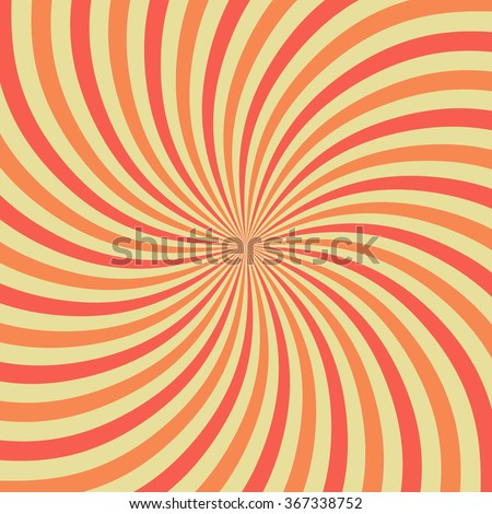 Abstract twirl background retro style