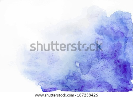 Abstract ultramarine vector watercolor background