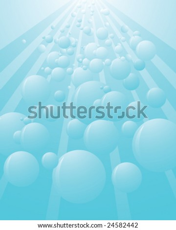 abstract underwater bubble background - vector illustration - stock vector