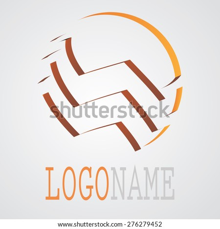 Abstract Unusual Modern Logo Design. Business Icons. Vector Illustration.  - stock vector