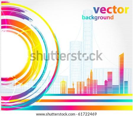Abstract urban city - stock vector