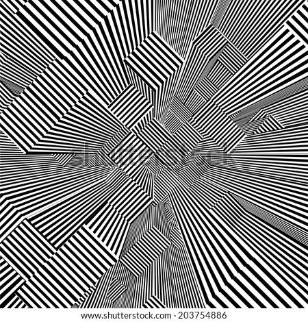 Abstract Urban City Of Skyscrapers Stripes Vector  - stock vector