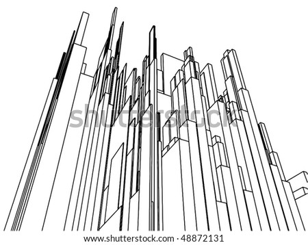 Abstract Urban City Of Skyscrapers Vector 101