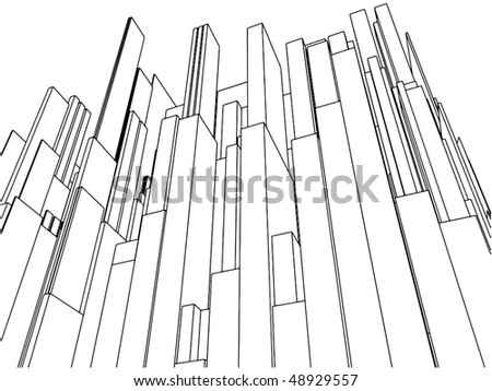 Abstract Urban City Of Skyscrapers Vector 106