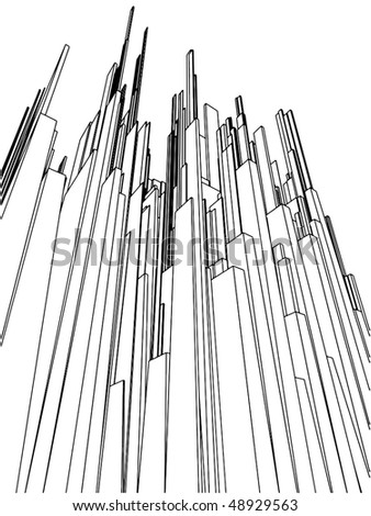Abstract Urban City Of Skyscrapers Vector 108