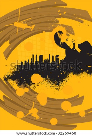 Abstract urban landscape - stock vector