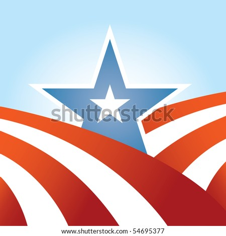 Abstract USA Flag Design - stock vector
