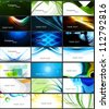 abstract Various 21 Business Card set header collection vector - stock vector