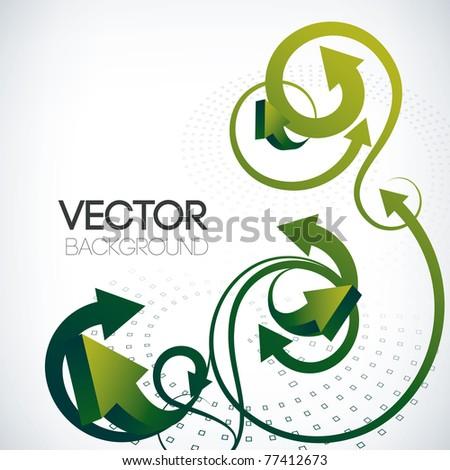 abstract vector arrows background - stock vector