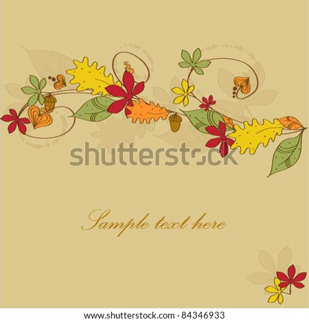 Abstract vector autumnal leaves background - stock vector