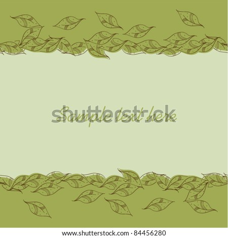 Abstract vector autumnal leaves pattern background