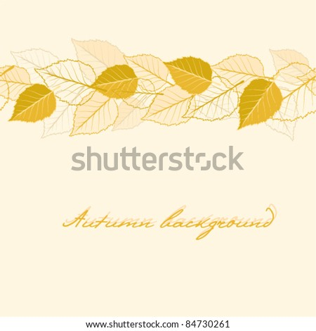 Abstract vector autumnal seamless leaves background - stock vector