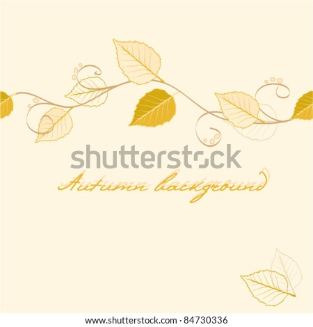 Abstract vector autumnal seamless leaves background