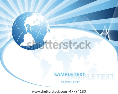 abstract vector backdrop of global connection with copy space