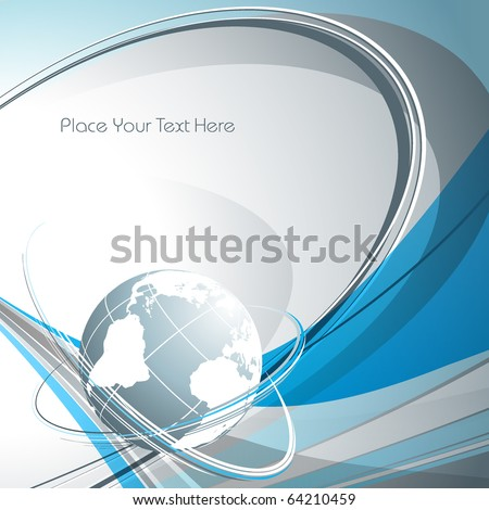 abstract vector backdrop of global connection with copy space.eps10 - stock vector