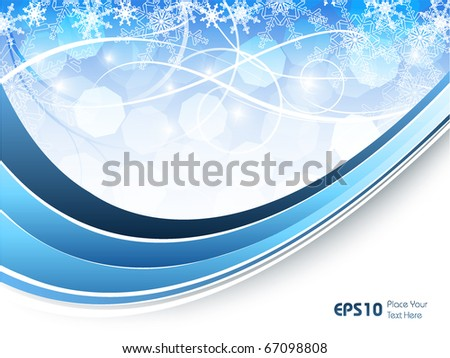 abstract vector backdrop with snowflakes and copy space. Eps10 - stock vector