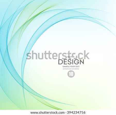 Abstract vector background, blue and green waved lines for brochure, website, flyer design.  illustration eps10. Motion wave - stock vector