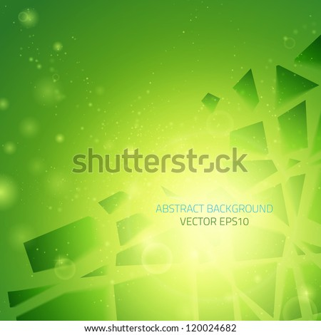 Abstract vector background. Business background. Technology background. Business card. Technology abstract. Bright background. Green background. Glowing background. Glowing background - stock vector