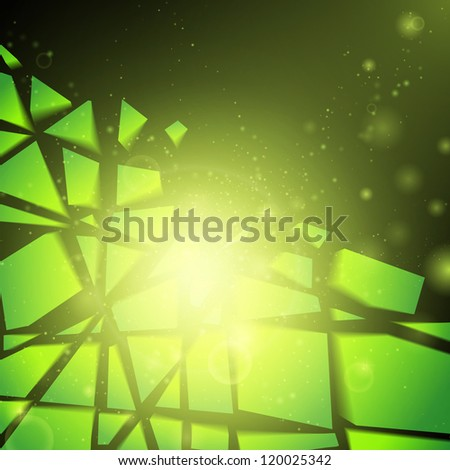 Abstract vector background. Business background. Technology background. Business card. Technology abstract. Bright background. Green background. Glowing background. Tech background. Music background - stock vector