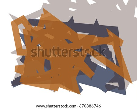 Abstract vector background. Color composition of irregular overlapping graphic elements.
