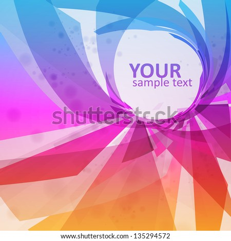Abstract vector background, colorful elements - editable eps10. - stock vector