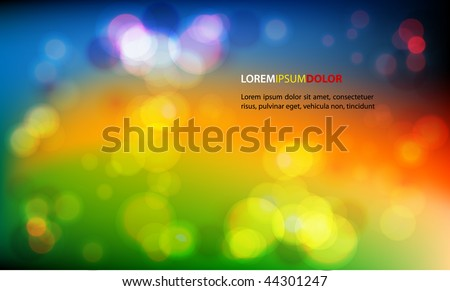 Abstract Vector Background -  Colorful Transparent Lights - stock vector